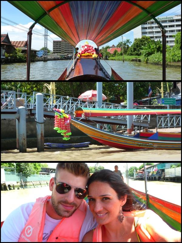 Fomos num passeio pelos canais de Bangkok. We went for a ride in the Canals of Bangkok.