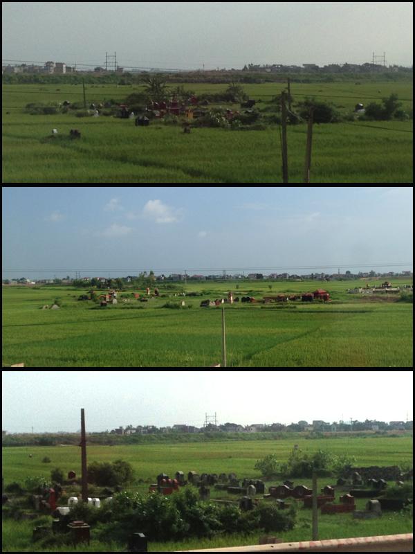 E o mais impressionante pra mim: Cemitérios no meio das plantações de arroz!!! Vários!!! And the most impressive for me: Cemeteries in the middle of the planting rice!! Plenty!!