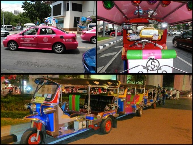 Os taxis em pink e as cores dos Tuk-tuks, pra deixar tudo ainda mais alegre. The taxis in pink and the Tuk-tuk's colours, to make everything even happier.