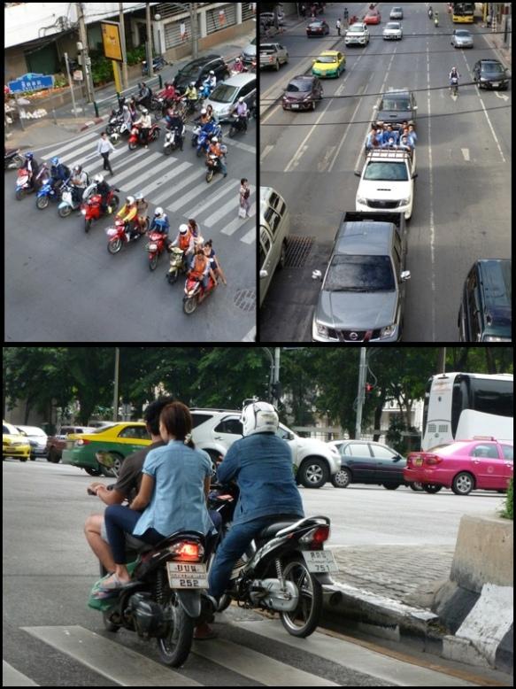 O tránsito loko e um pouco irresponsável. Vários motoqueiros sem capacete. Crazy and a bit irresponsible traffic. A lot of bikers without helmet.