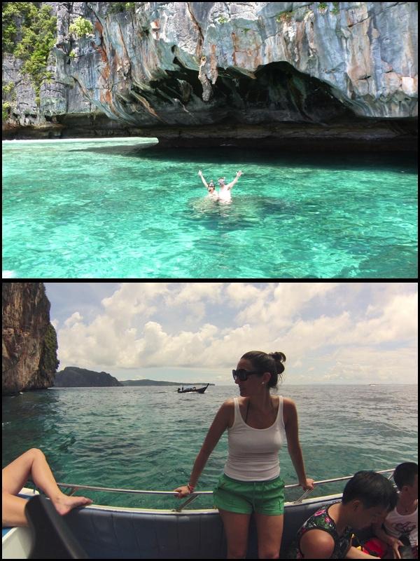 Perto de Koh Phiphi. Vários lugares pra mergulhar. Around Koh Phiphi. Many good places to do snorkelling