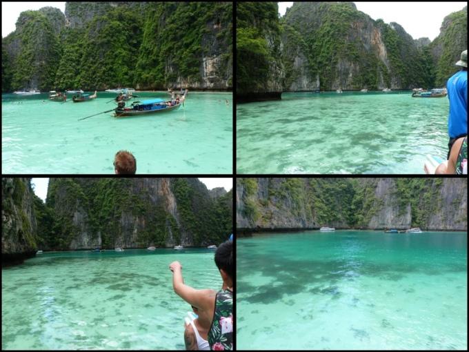 Pileh Cove. Eles chamam de Lagoa Azul. Muito lindo!! Pileh Cove. They call it The Blue Lagoon. Amazing!!