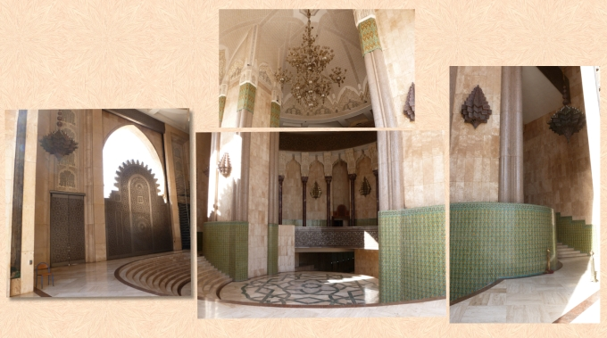 Montagem de fotos da Mesquita por dentro Photo collage of inside the  Mosque