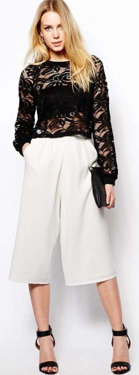 Culotte Midi Skirt 11