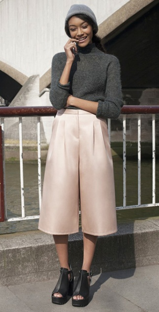Culotte Midi Skirt 2