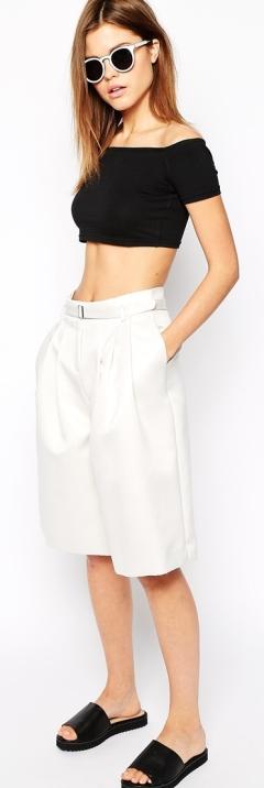 Culotte Midi Skirt 9